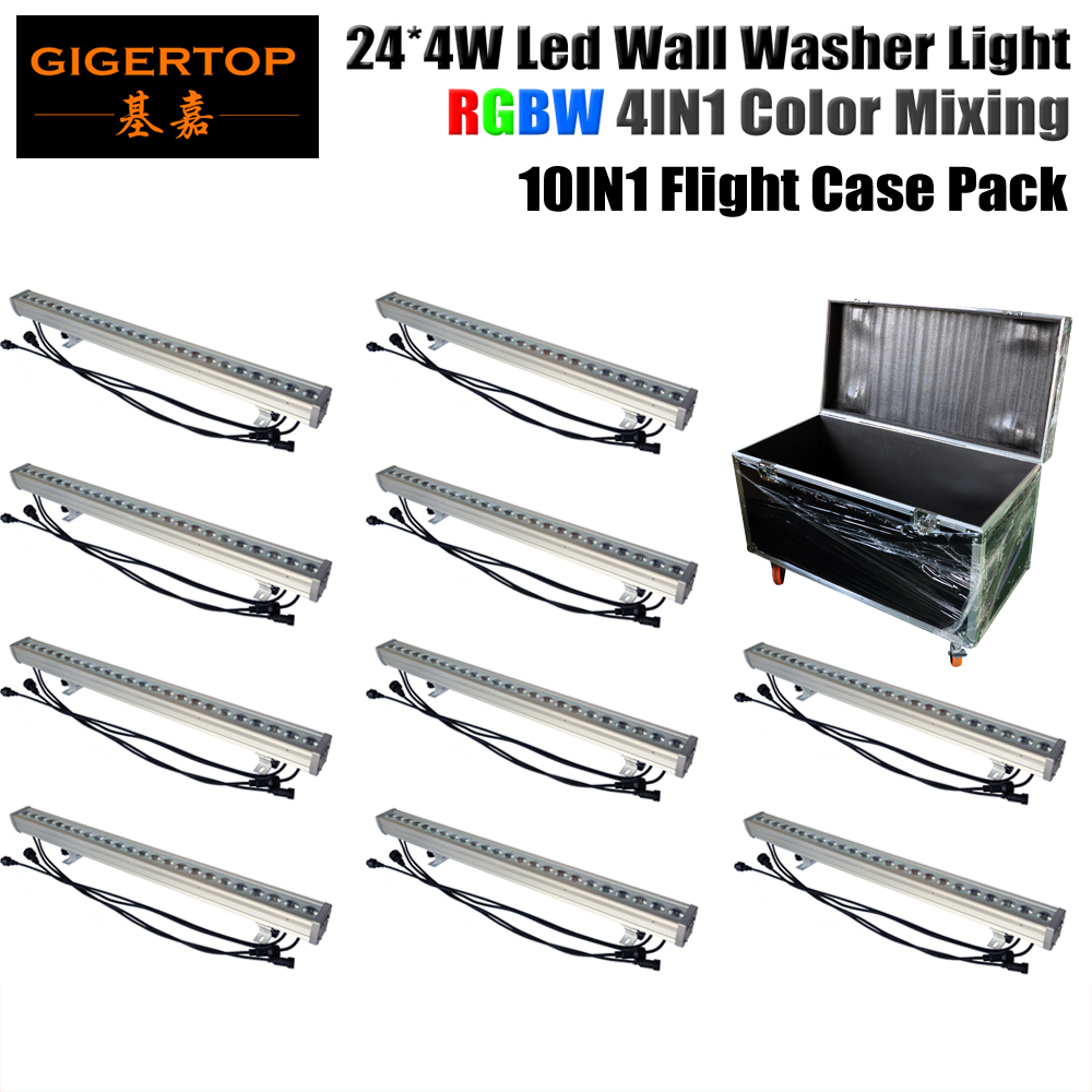 Guangzhou Led Stage Lighting 10 Pack 24x4W Red/Green/Blue/White 4 Color Outdoor Building Wall Washing Smooth Dimmer No Flicker