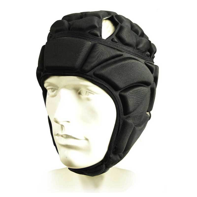 Mens Sport Goalkeeper Football Soccer Goalie Helmet Head Support Black ...