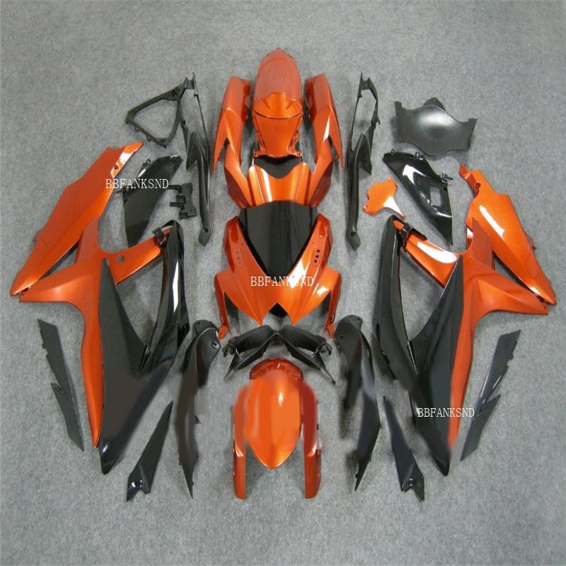 free shipping For SUZUKI GSXR600 08 09 10 GSXR750 08-10 <font><b>GSX</b></font> R600 750 GSXR <font><b>600</b></font> 750 <font><b>2008</b></font> 2009 2010 Fairing orange image