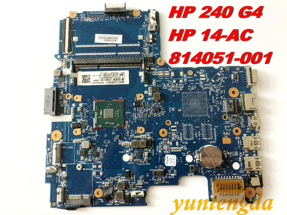 Original For HP 240 G4  Motherboard  14-A  14-AC Motherboards  814051-001 Tested Good Free Shipping