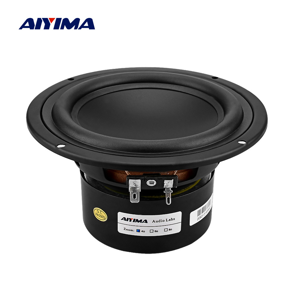 AIYIMA 5.25 Inch Subwoofer Hifi Sound Speaker Strong Bass DIY Audio Computer Speakers 4 8 Ohm 40 W Loudspeaker For Sound System