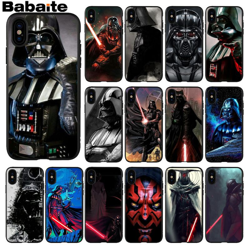 Babaite Darth vader <font><b>star</b></font> wars Smart Cover Schwarz Soft Shell-Fall für <font><b>iPhone</b></font> 5 5Sx 6 7 7plus 8 8Plus <font><b>X</b></font> <font><b>XS</b></font> <font><b>MAX</b></font> XR image