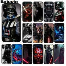 Babaite Darth vader star wars Smart Cover Black Soft Shell Phone Case for iPhone 5 5Sx 6 7 7plus 8 8Plus X XS MAX XR