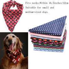 Pet Dog Cat Triangular Bandage Bib Towel Soft Cotton Scarf Christmas Style for Teddy Dog's Gift