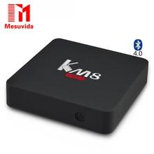 KM8 Pro Smart TV Box для Android 6.0 TV Box Amlogic S912 Octa Ядро CPU RAM МАКС 2 ГБ ROM 16 ГБ Двойной 2.4 Г/5 Г wi-fi 2017 17.0 Компл. Топ коробка