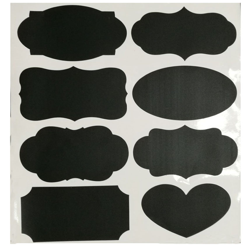Diy Vinyl Chalkboard Sticker Labels 8 Shapes Kitchen