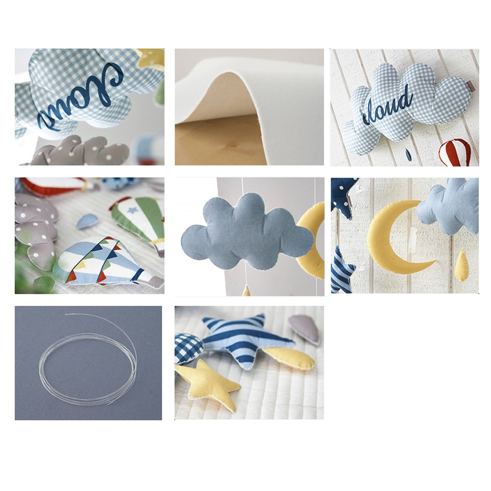 Clouds Balloon Star Rocket DIY Handmade Material Package Baby Rattle Crib Mom Handcrafted Newborns Holder Bed Musical Box Toys in Baby Rattles Mobiles from Toys Hobbies