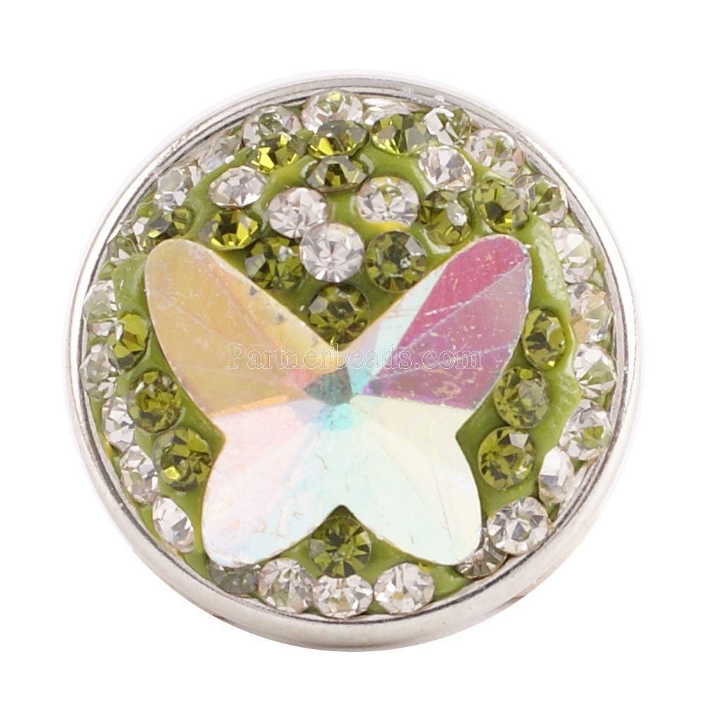 10 pçs lote Partnerbeads Handmade 18 MM Strass Botões de Pressão Para DIY  Pingente Snap Alta Qualidade Charme Jewelrys Atacado KC2790 d611b869875