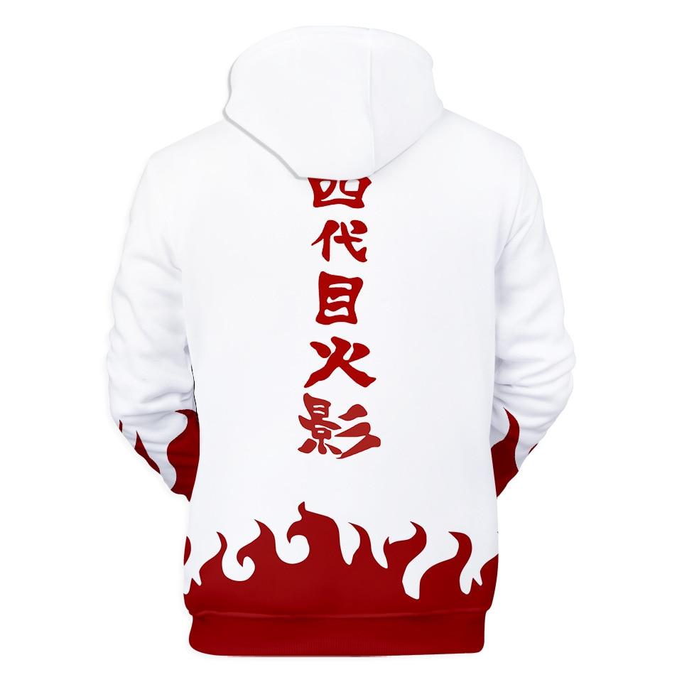 Yondaime Fourth Hokage Hoodie Anime Naruto Cosplay Sweatshirt Namikaze Minato