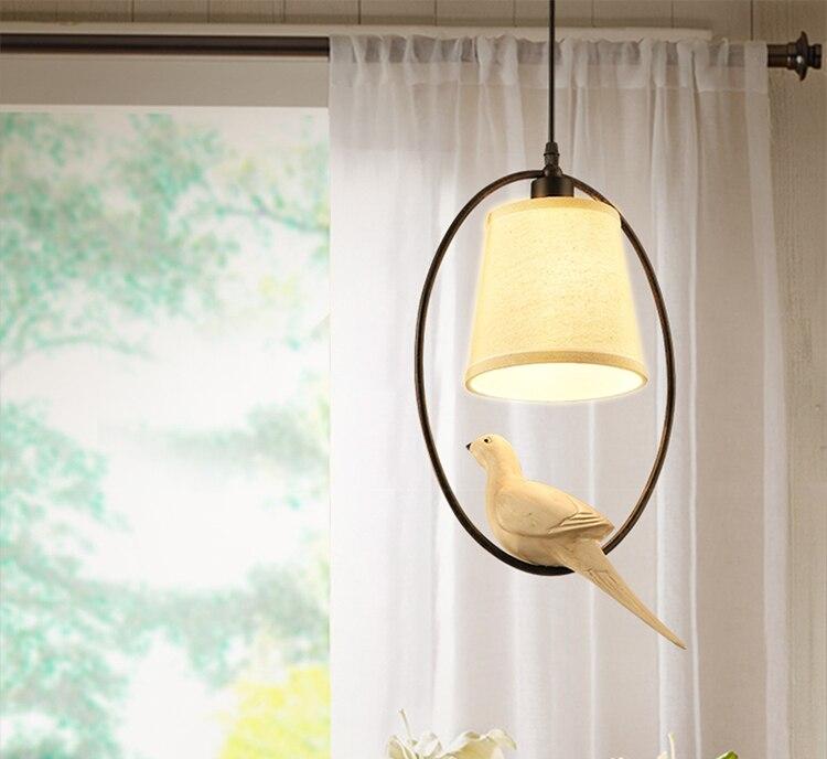 1pc American bird pendant lamp bedside bar dining room lights creative lighting