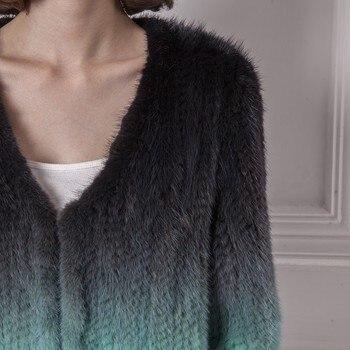 2014 mink fur short design knitted outerwear girls 2