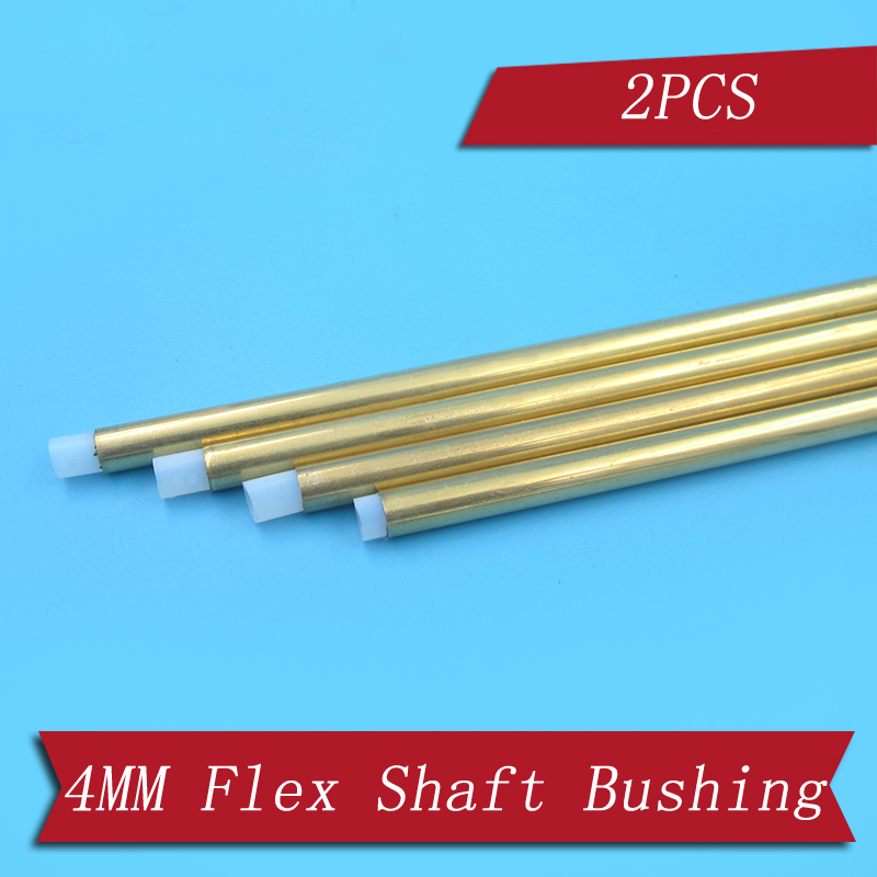 2PCS RC Boat Copper Bushing Flex Shaft Sleeve Length 300mm With PTFE Tube Parts For RC Gasoline Electric Boat 4mm Drive Shaft