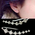 One PAIRS Ear Cuff Wrap Crystal Earrings Newest High Quality Summer Style Ear Cuff Piercing Clip Earrings Jewelry For Women