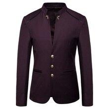 2019 осень новая мужская мода блейзер мужская мода воротник три пуговицы пиджак мужской тонкий больш