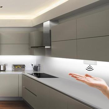 Możliwość przyciemniania przełącznik czujnikowy ręczny 5A 12 V 24 V przełącznik ściemniacza ręcznego DIY szafa oświetlenie szafki kuchennej tanie i dobre opinie Przełączniki MALITAI 2 Years Przełącznik czujnika Hand Sweep Switch Dimmable Z tworzywa sztucznego