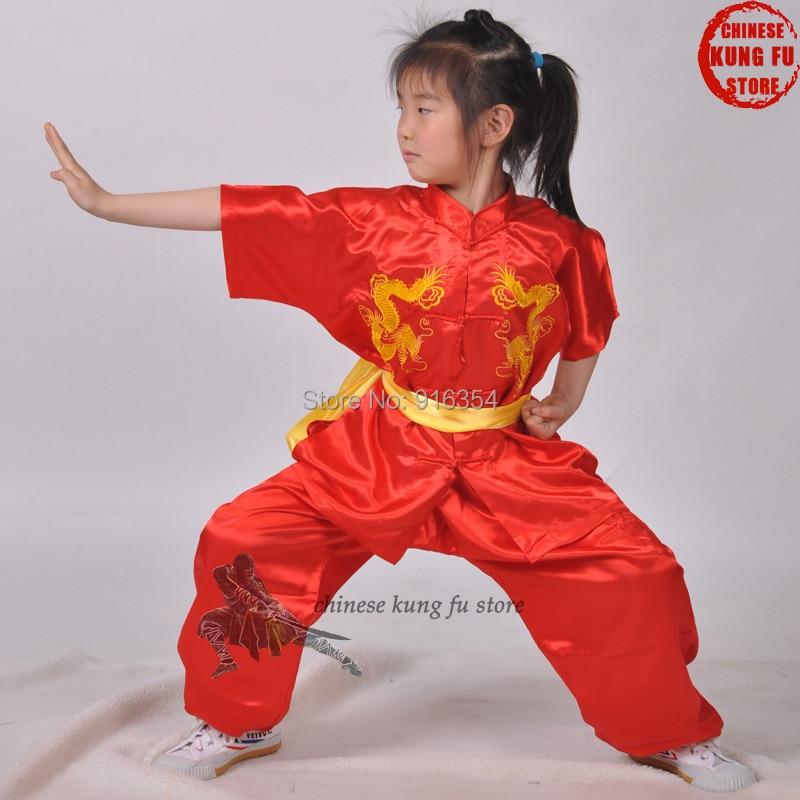 Летние Короткие рукава Тай Чи чанкюань Униформа Боевые искусства кунг-фу крыло Чунь костюм для Каратэ костюм для Хэллоуина