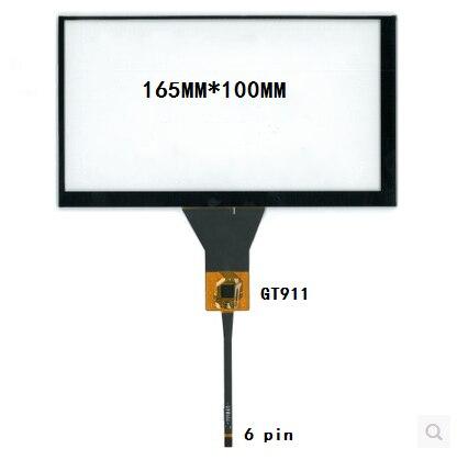 165*100 164*99 GT911 novo 7 polegada de navegação do carro DVD tela de toque capacitivo frete grátis