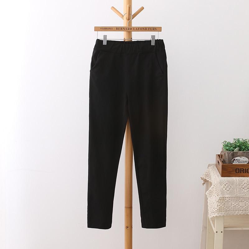 6 Colores Pantalones de Cintura Alta de Mujer Más Tamaño 3 4 5 XL - Ropa de mujer - foto 6