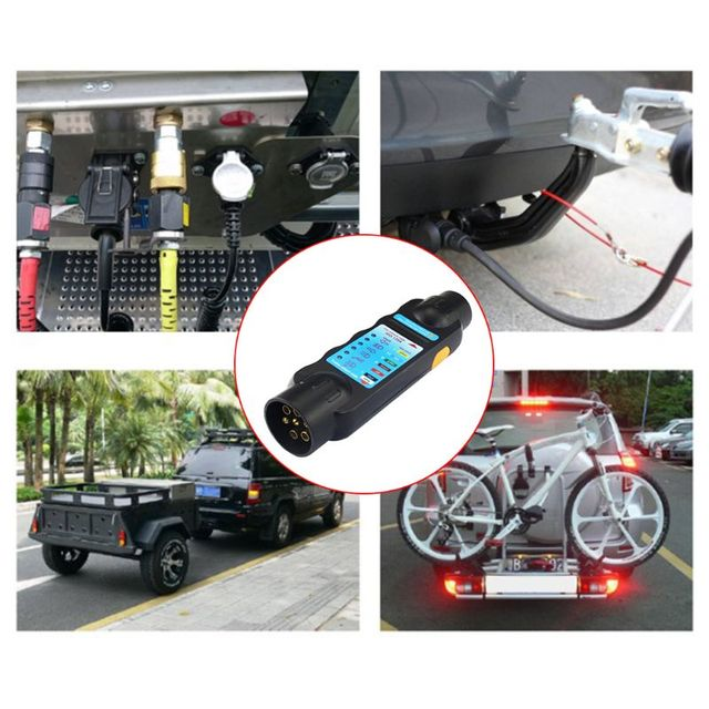 Stupendous Free Postage Durable 12V 7 Pin Car Truck Trailer Plug Socket Tester Wiring Cloud Venetbieswglorg