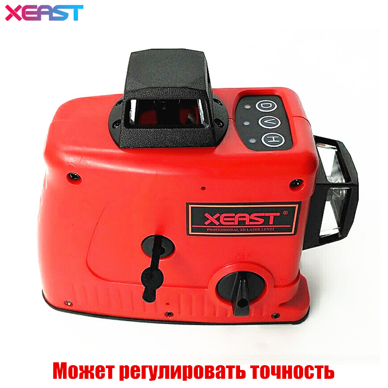 XEAST 12Lines 3D Laser Level Self-Leveling 360 Horizontal And Vertical Cross Red Laser Beam Line,can adjustable accuracy free shipping highly visible line laser kapro 810 with vertical and horizontal vials