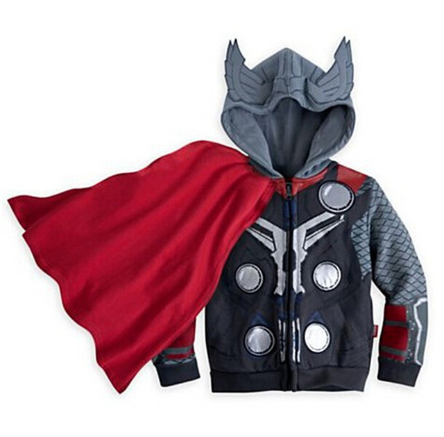 Boys Hoodies Avengers Marvel Superhero Iron Man Thor Hulk Captain America Spiderman Sweatshirt for Boys Kid Cartoon Jacket 2-7T