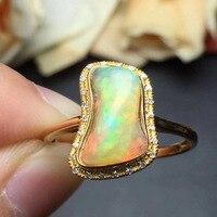 Fine Jewelry Cristmas Regalo reale 18 K Oro Giallo 100% Top grade natural opal anello per le donne gioielli multa anelli