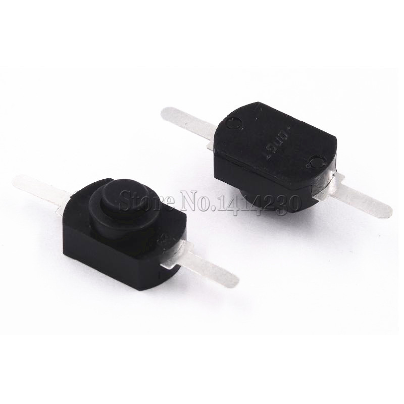 100PCS <font><b>12</b></font>*8MM <font><b>DC</b></font> <font><b>30V</b></font> 1A Black and White On Off Mini Push Button Switch for Electric Torch Self Locking image