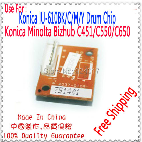 Para Konica Minolta bizhub C451 C550 C650 C650P 451 550 650 Chip de ...