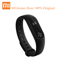 100 Original Xiaomi Band 2 Mi Wristband Sport Watch OLED Touch The Screen For Apple Samsung