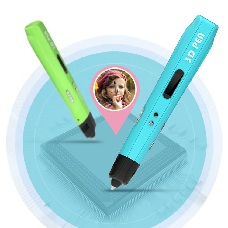ФОТО Birthday Present Brand NEW Third Generation DIY 3D Printer Pen For Kids AU/US/UK/EU Plug With PLA Filament 1.75mm Free Shipping