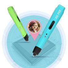 Birthday Present Brand NEW Third Generation DIY 3D Printer Pen For Kids AU/US/UK/EU Plug With PLA Filament 1.75mm Free Shipping