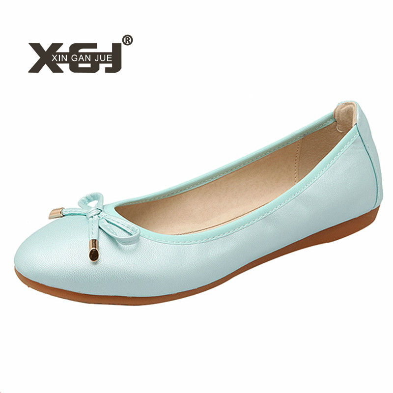 New Casual Shoes Ladies Big Size 42 43 Ballerina Flats For Womens Soft  Outsole Ballet Flats Foldable Autumn Women Flat Shoes 2fe3cf04a5f7