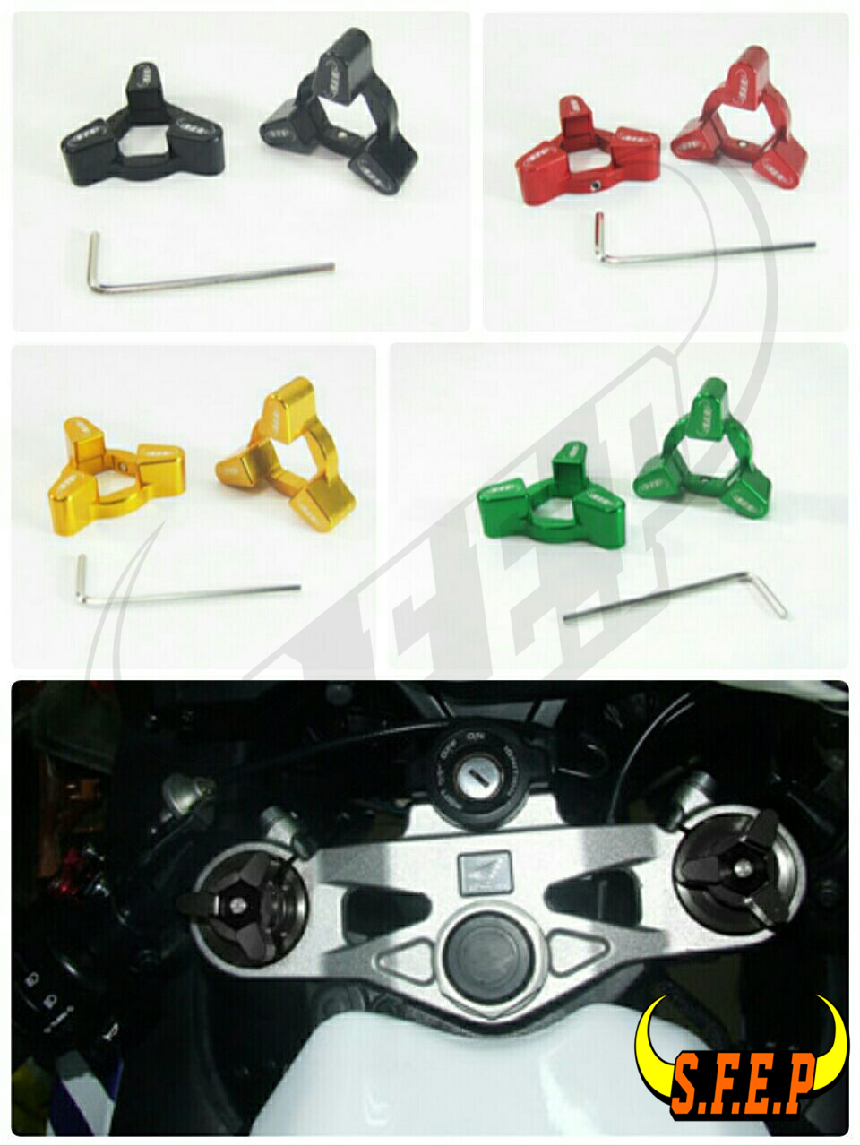 Motorcycle CNC Fork Preload Adjusters For Kawasaki ZX6R / ZX636R / ZX6RR 98-02/ ZX9R 98-03/ ZX12R 00-05