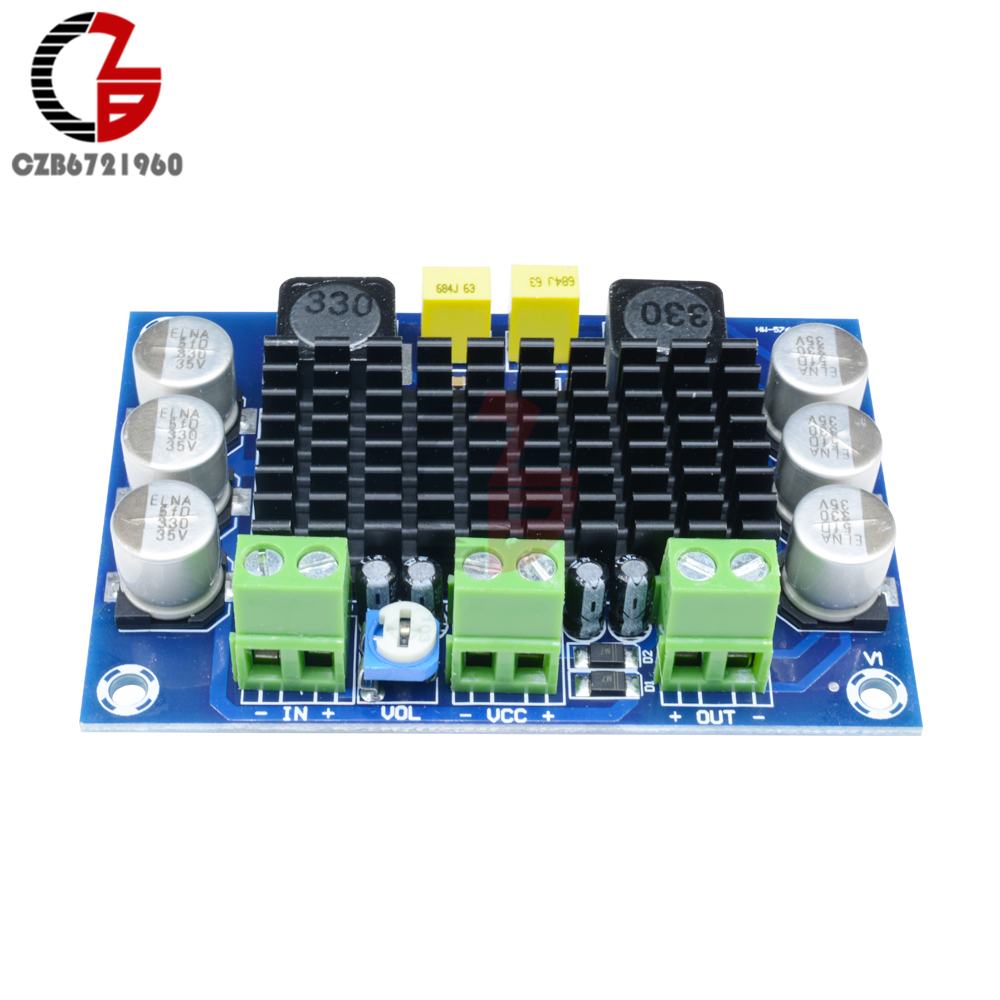 Image 4 - 100W TPA3116 Power Amplifier Board DC 12V 24V TPA3116DA Mono Channel Digital Stereo Audio Amplifier Board High Power AMP Module-in Instrument Parts & Accessories from Tools