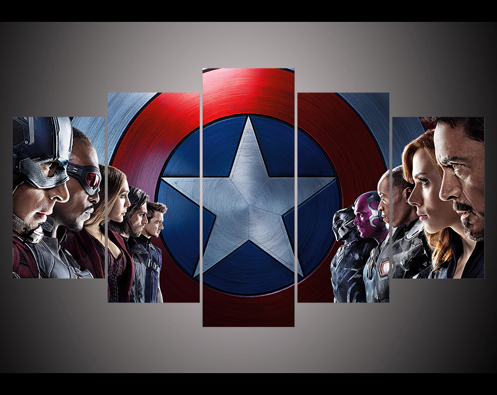 Captain America Wall Art aliexpress : buy print captain america civil war movie film