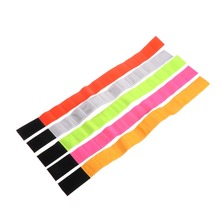 Reflective Cycling Arm Band Running Outdoors Safety Belt Wrist Leg Useful Straps nuckily rg02 cycling bicycle reflective pant band leg strap belt fluorescent green