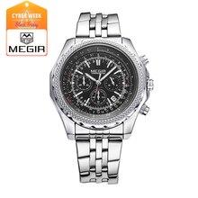 Megir 2006 кварцевые часы для человека моды бизнес часы мужчины водонепроницаемый световой наручные часы многофункциональный