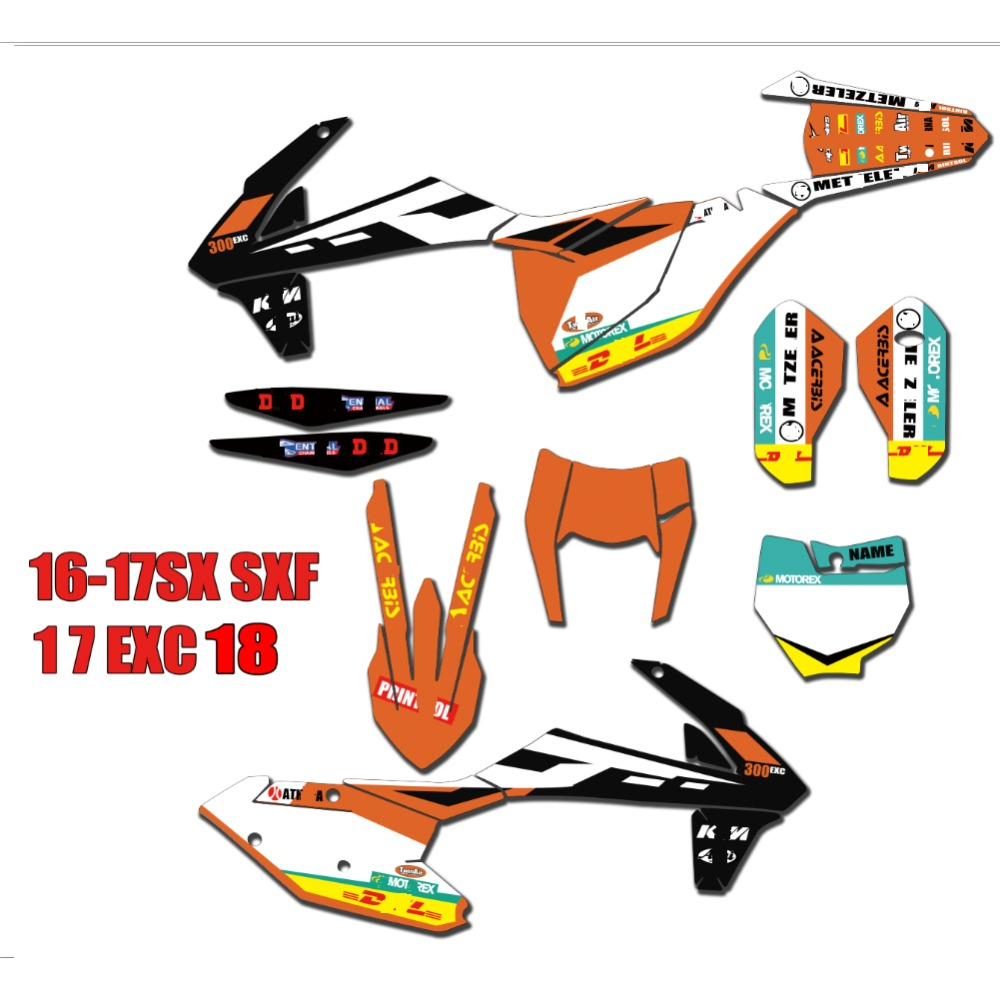 Decals & Stickers KTM SX SXF EXC XC Orange Forkguards Decals ...