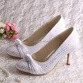 Wedopus Marfim Sapatos de Casamento Festa Bombas 8 CM Salto Alto Mulheres Bombas Tamanho 34 ~ 42