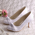 Wedopus Wedding Shoes Ivory Party Pumps 8CM Heel Women Pumps Size 34~42