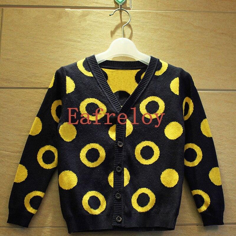 Boys Knitting Cardigan Sweater New Autumn&Winter Dot Circle Jacquard ...
