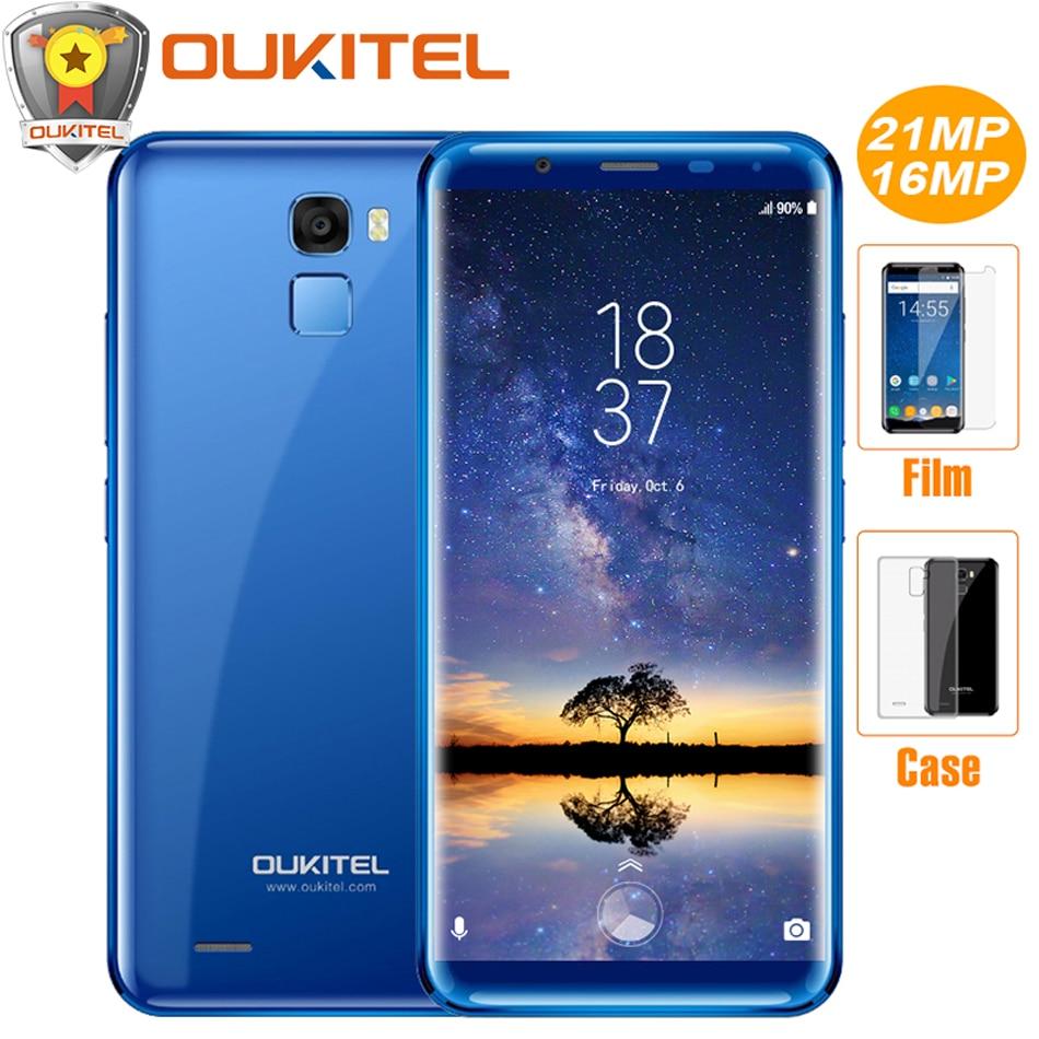 "Oukitel K5000 5.7\""HD+18:9 Display 4G Mobile phone 5000mAh Android 7.0 4GB RAM 64GB ROM Octa Core 16MP Fingerprint ID Smartphone"