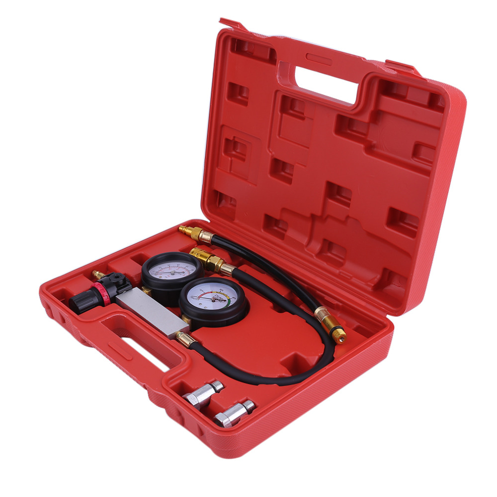 Universal Auto Cylinder Engine Leak Tester Compression Gauge Diagnostic Leakage Detector Car Petrol Engine Gauge Tool Kit Set cylinder leak tester compression leakage detector kit set petrol engine gauge tool kit double gauge system