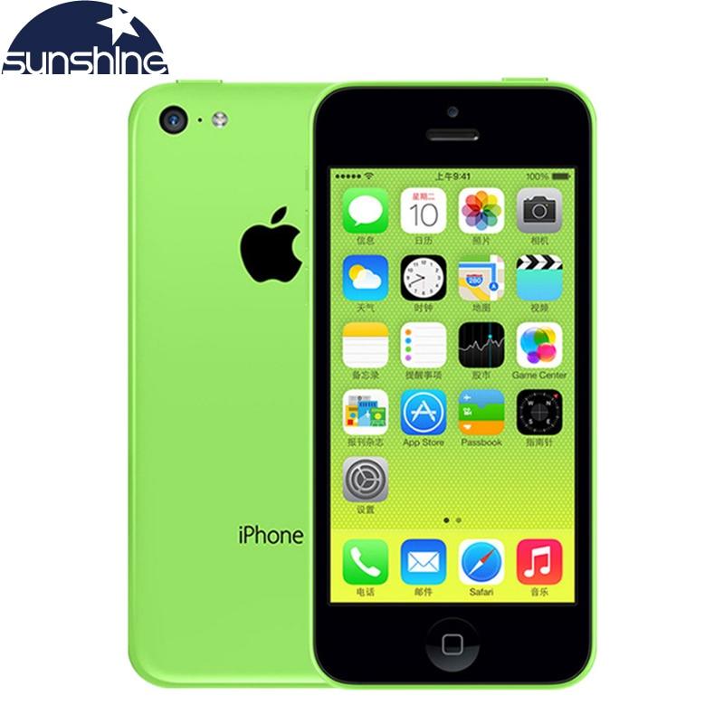 Unlocked Original Apple iPhone 5c Mobile Phone 4 Retina IPS 8MP 1080P IOS iPhone5c WIFI GPS