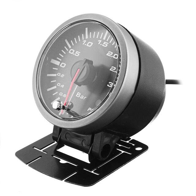 1pc DC 12V 2.5in 60mm Auto LED Turbo Boost Vakuum Presse Manometer Bar Meter Hohe Qualität auto Turbo Boost Gauge Zubehör-in Impulse Messgeräte aus Kraftfahrzeuge und Motorräder bei
