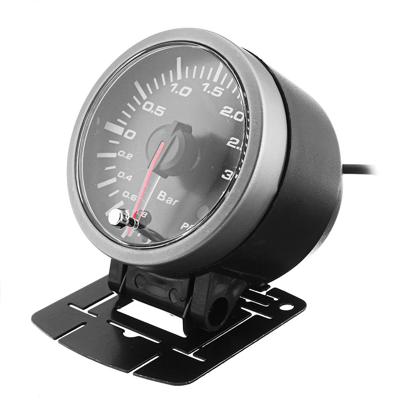DC 12V 2.5in 60mm Auto Car LED Turbo Boost Vacuum Press Pressure Gauge Bar Meter Car Accessories