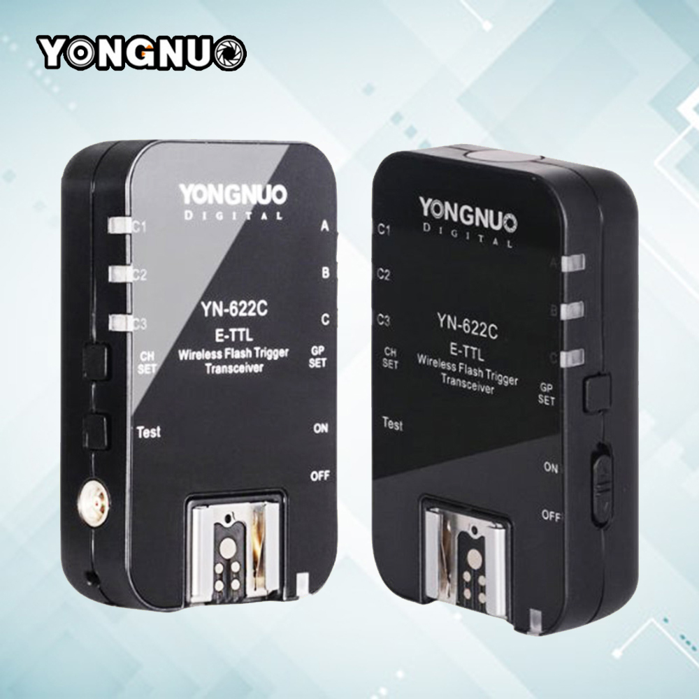 YONGNUO YN-622C YN622C RX Wireless ETTL HSS 1/8000s Flash Trigger Ratio Receiver Transceiver For Canon DSLR Camera yongnuo yn622c ii yn 622 c wireless ettl flash trigger transmitter yn622c ii with high speed sync hss 1 8000s for canon camera