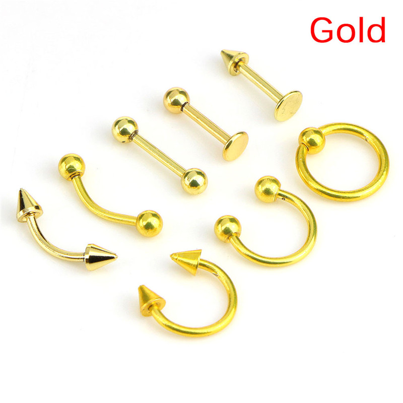 HTB1YUg8MCzqK1RjSZPxq6A4tVXap - 8pcs/lot Stainless Steel  Fashion 16G Titanium Anodized Body Jewelry Helix Piercing Ear Eyebrow Nose Lip Captive Rings