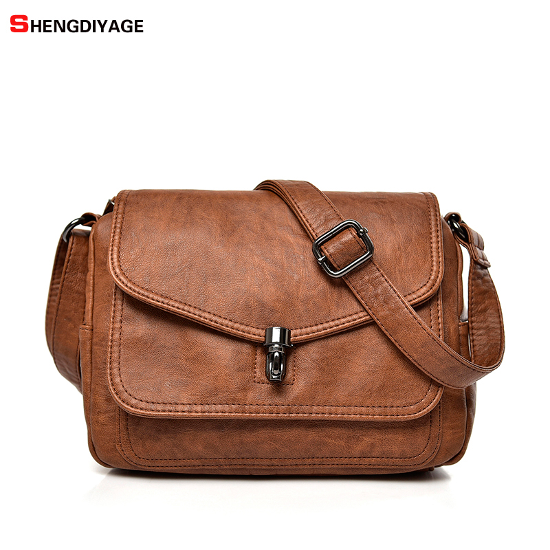 NEW Flap Bags Leather Handbags Women Famous Brands High Quality Shoulder Bag Fashion Lock Crossbody Bag Women Messenger Bags SAC цена