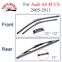 Combo Silicone Rubber Front And Rear Wiper Blades For Audi A6 C6 4F 2005 2011 Windscreen